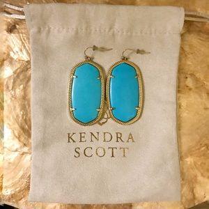 Kendra Scott Danielle Gold Earrings in Turquoise